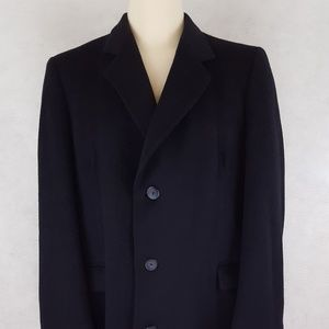 Other - Mens Blue Overcoat 42L Cashmere Blend Navy Made In